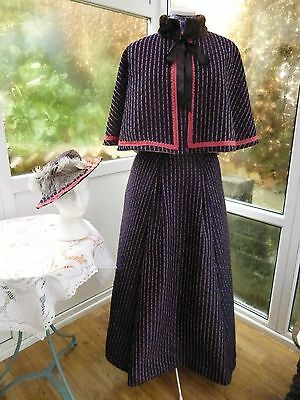 3 PIECE VICTORIAN COSTUME CAPE/SKIRT AND HAT 34waist