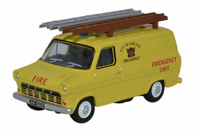 Oxford Diecast Ford Transit Mk1 City of Carlisle Fire Service 76FT1004