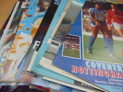 Bundle 18 x Coventry City FC Home Programmes Listed 1960s-2000s