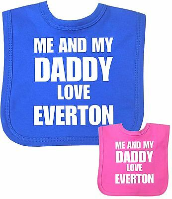 BabyPrem Baby Clothes Boys Girls I Daddy Love EVERTON Feeding Bib Shower Gift