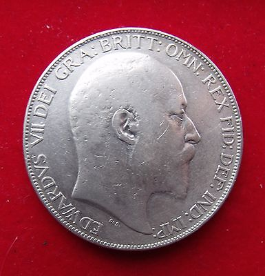 1902 Crown five shillings 5/- King Edward VII Coronation .925 Silve British Coin
