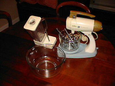 Vintage Sunbeam Mixmaster 12-Speed Stand Mixer with Accessories