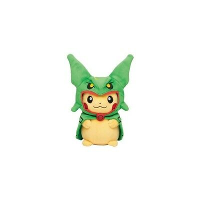OFFICIEL POKEMON CENTER PELUCHE PLUSH  PIKACHU Rayquaza poncho VERT
