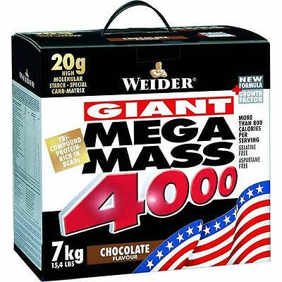 Weider Mega Mass 4000 - 7kg, Weight Hard Gainer  CREAPURE, Muskelaufbau,