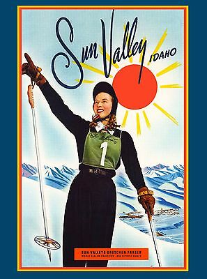 1948 Olympic Games Sun Valley Idaho United States Travel Advertisement Poster