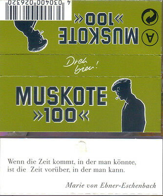 4 different MUSKOTE Cigarette Rolling Papers