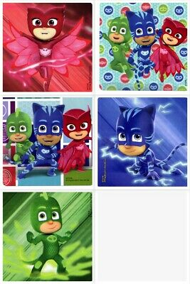 PJ Masks Stickers x 5 - Birthday Party Supplies Favours Loot - PJ Masks Party