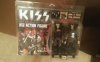 KISS Rare Gene Simmons Figures Limited edition Sold Out! #9/100 NIB Mego-type