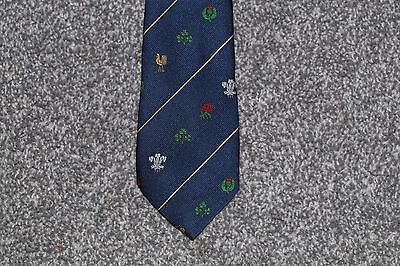 Five Nations Rugby Union Tie Navy Blue