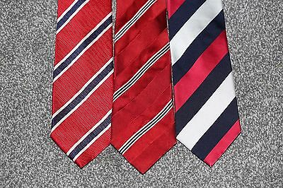 England Rugby RFU Ties x 3 Red White and Blue