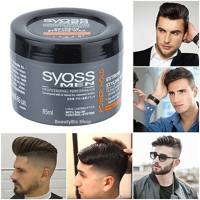 Syoss Men Hair Wax Styling Power Extreme Strong Hold  Modern Fashion Funk Style