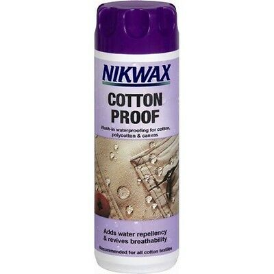 Nikwax Cotton Proof Wash-in Waterproofing for Cotton Polycotton & Canvas 300ml
