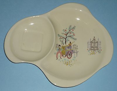 BESWICK POTTERY  'DANCING DAYS' 1595 'TENNIS' SAUCER 1950's Made in England