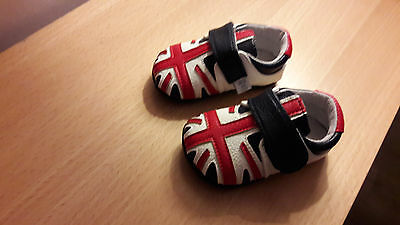 Brand New - Jack And Lily Leather Union Jack Shoes - 6-12 Months