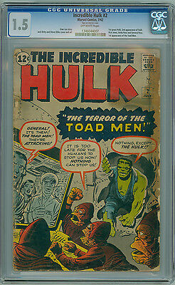 Incredible Hulk #2 CGC 1.5 1st Green Hulk 2nd Appearance of Hulk KIRBY DITKO LEE