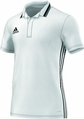 Adidas Football Men Soccer Condivo 16 Climalite Polo Shirt White Black