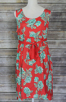 Maternity Oh Baby by Motherhood Sleeveless Floral Print Tank Dress Size L NWT