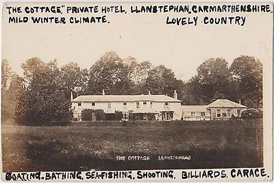 Rp The Cottage Private Hotel Llanstephan Carmarthenshire  C 1920
