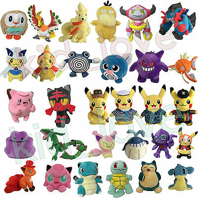 Pokemon GO 2016 Plush NEW Character Soft Toy Stuffed Animal Doll Teddy NEW