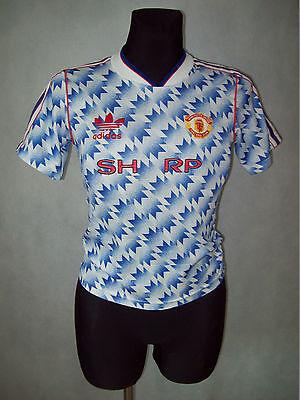 """Manchester United 1991 1992 Away 26/28 Adidas TOP CONDITION """"ONE - A """""""