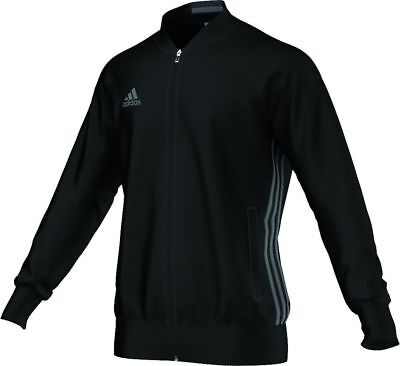 Adidas Football Men Soccer Condivo 16 Anthem Jacket Black Grey