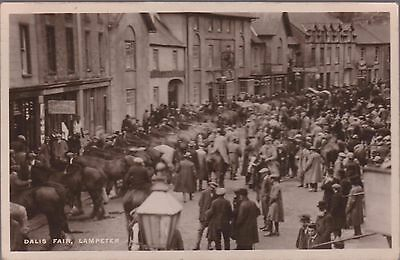 Vintage 1928 Rp Card Of The Dalis Fair Lampeter - Temperance House