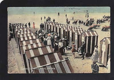 Postcard - Jersey - Bathing at West Mount - JWS 3551 - Good Unposted