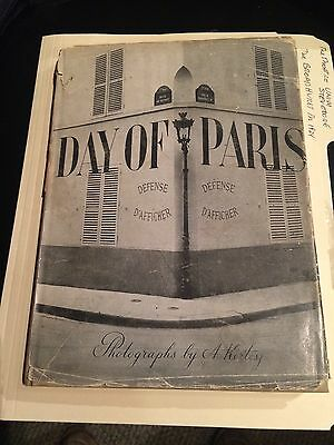 "Book ""day Of Paris Kertesz Andre,george Davis Editor ""1945"""