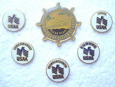 USAA Insurance Travel Hat or Lapel Pins (6)