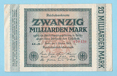 GERMANY .20  MILLIARDEN MARK .1923 .( See the descriptions)