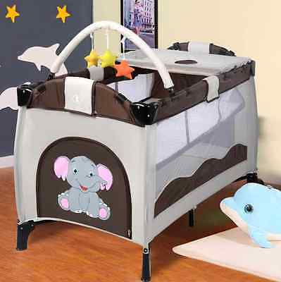 Baby Travel Cot Bed Infant Folding Playpen Bassinet Play Pen Cribs Entryway Kids