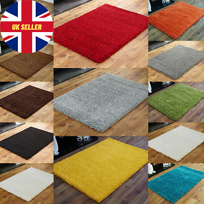 SMALL X LARGE SIZE THICK 5CM PILE MODERN RUGS NON SHED SHAGGY RUG Round Runner