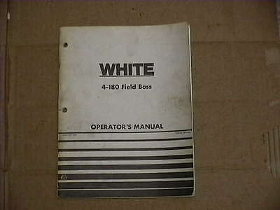 Used White 4-180 Tractor Operator's Manual