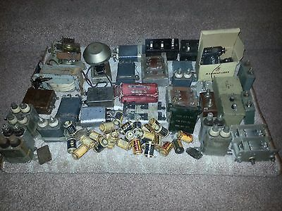 Job Lot Of Vintage Unknown WW2 Radio Parts - Collection From Corringham SS17