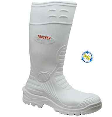 New Aimont Hygiene Safety Waterproof Wellington White Steel Toe Cap Welly Boots