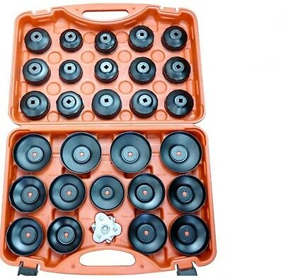 NEW SOCKET TYPE OIL FILTER REMOVAL PULLER CUP TOOL KIT SET ADAPTOR GARAGE 30 Pc