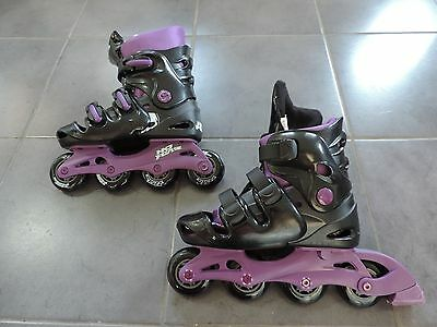 Ladies Womens Girls INLINE ROLLER SKATES Size 5 - 8 boots gift VGC COLLECT ONLY!