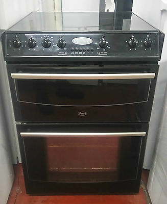 Belling 623BL Fan Assisted 600 Double Oven Cooker With Ceramic Hob In Black