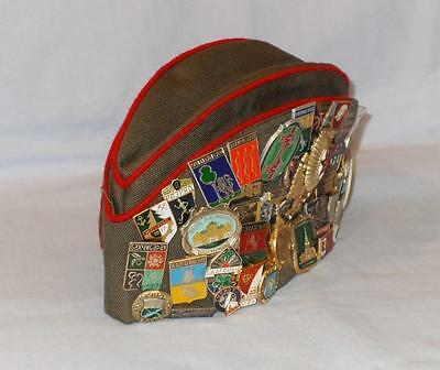 Russian Ussr Cccp Military Army Hat With Many Russian Badges