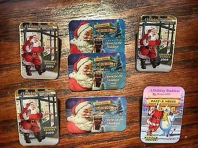 Seven Waffle House Christmas Pins
