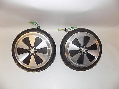 """Pair of 6.5"""" Replacement Wheel Rim Tire For Mini Smart Unicycle Scooter Motor"""