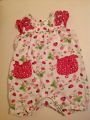 Baby girls romper with ladybirds size 6-9 months
