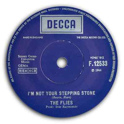 """THE FLIES - """"Stepping Stone"""" FREAKBEAT CLASSIC b/w """"House Of Love"""" HEAR IT!"""