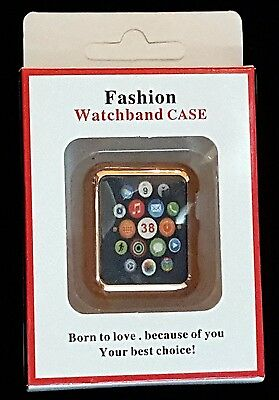 Fashion Watchband Case for APPLE SMART WATCH COVER Replacement 38mm Gold