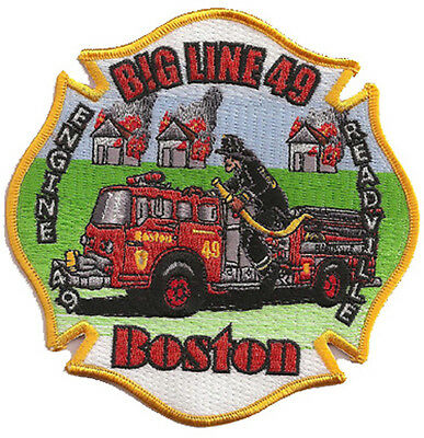 Boston Fire Dept.  Engine 49  BIG LINE 49 FIRE PATCH