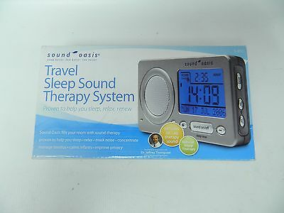 Sound Oasis S-850 Travel Sleep Sound Therapy System Travel Clock