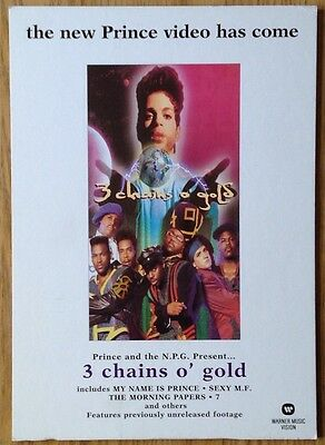 Prince  3 Chains O' Gold  UK Promo Instore Display Stand