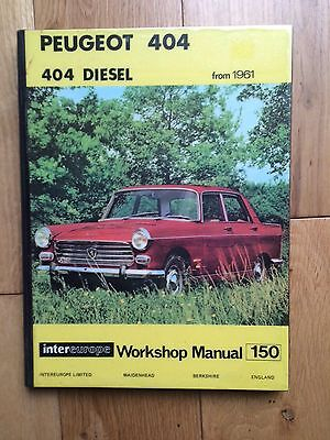 Peugeot 404 Diesel From 1961 Intereurope Car Workshop Service Repair Manual