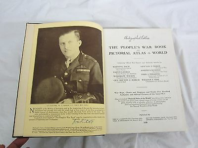 World War 1 Billy Bishop Autographed The Peoples War Book 1920 Nice