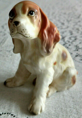 Lefton Bone China Springer Spaniel Dog Figurine Lefton with Red sticker